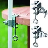 Acero s/ólido Ajustable Margen de ajuste de aprox greemotion Soporte de sombrilla para terraza y balc/ón gris//plata 190 mm