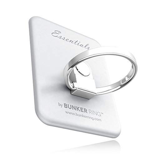 BUNKER RING Essentials(Matt 6) バンカーリング iPhone/iPad/iPod/Galaxy/Xperia/スマートフォン・タブレットPCを指1本で保持・落下防止・スタンド(シルバー )