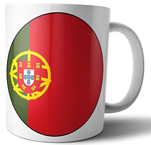Taza de café con diseño de bandera de Portugal