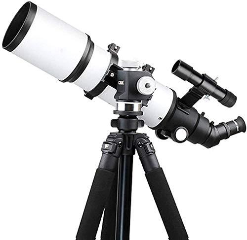 Telescopio de Refractor de 80 mm con trípode y Circunferencia del buscador, con una visión Nocturna Baja, Resistente, con Adaptador de teléfono Inteligente, Mochila y Filtro Lunar