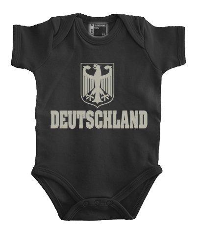 Touchlines Fussball Weltmeisterschaft 2014 Deutschland Babybody Body, Noir (Black/Silver), FR: 3 Mois (Taille Fabricant: 62) Mixte bébé