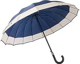 JRM's Windproof Long Handle Umbrella for Men and Women Strong 16 Ribs Umbrella for Rain (Blue)