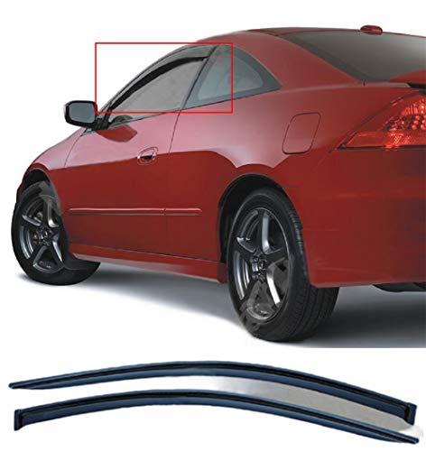 Viksee 2pcs Sun/Rain Guard Vent Shade Window Visors for 2003-2007 Accord cm 2D/2DR Coupe Outside Mount Style