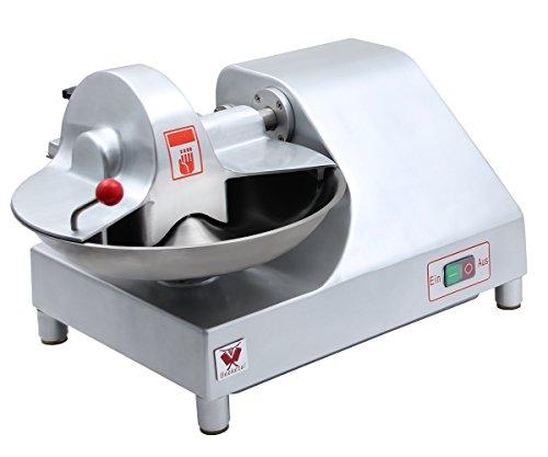Beeketal Metzger Fleischkutter 'BFK9' Profi Tischkutter mit ca. 6,4 Liter Volumen für 2,5 kg fertiges Brät, Spezialklingen aus gehärtetem Edelstahl, 400W Motor für 1460 U/min (20 U/min Schüssel)