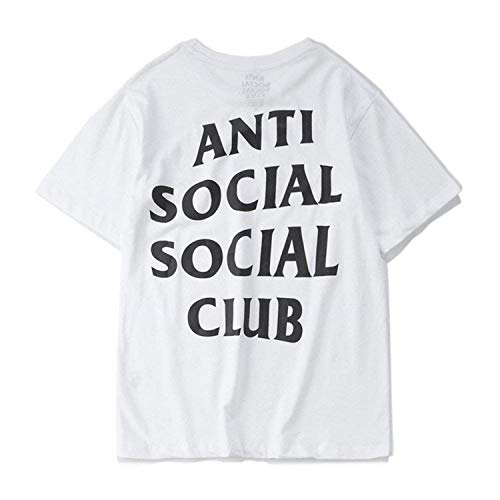 Unisex Hip Hop Mode Anti Social Social Club T-Shirt Sweat Tee Style Tee (Weiß-A, L)
