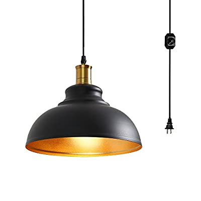 Surpars House 1-Light Plug in Pendant Light with Dimmer Switch in Line …