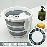Portable Washing Machine, Mini Ultrasonic Turbine Washer with Foldable Pail, USB Powered Compact Personal Rotating Turbine Laundry for Camping Travel Apartments Dorms College Rooms