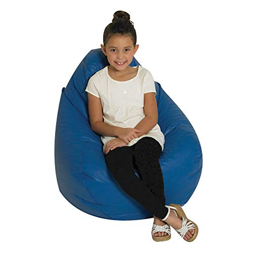 Children's Factory Tear Drop Kids Bean Bag Chair, Flexible Seating Classroom Furniture, Toddler Beanbag Chair for Daycares, Schools & Homes, Blue, 30x30x24' (CF610-044)
