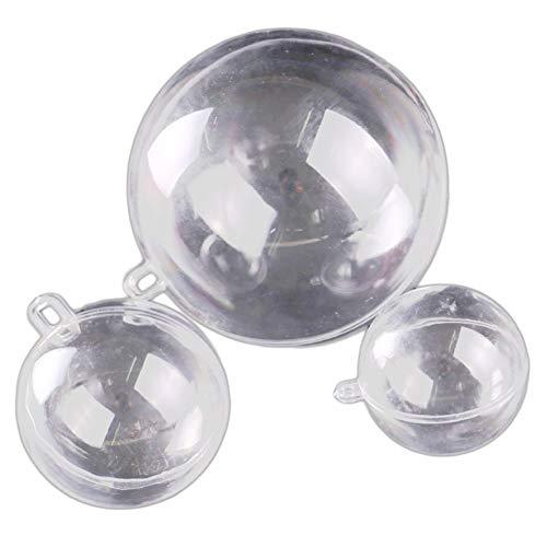 15 bolas de Navidad rellenables bolas transparentes árbol de Navidad adornos colgantes colgantes decoración del hogar 40 mm 50 mm 60 mm cómodo y ecológico