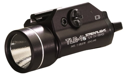 Streamlight 69210 TLR-1s LED Rail Mounted Flashlight with Strobe Function and Rail Locating Keys - 300 Lumens, Black