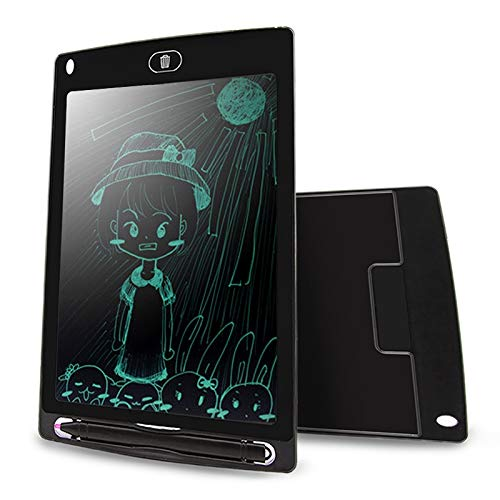 WXX CHUYI Tragbare 8,5 Zoll LCD Schreibtafel Zeichnung Graffiti Elektronische Handschrift Pad Nachricht Grafikkarte Entwurfspapier mit Schreibstift, CE/FCC/RoHS Zertifiziert (Schwarz)