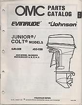 1989 OMC EVINRUDE JOHNSON JUNIOR/COLT PARTS MANUAL