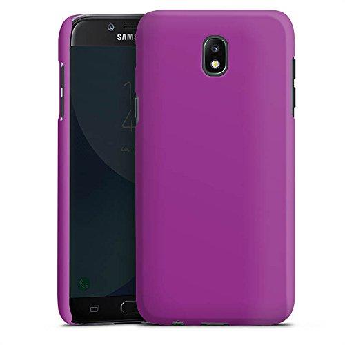 DeinDesign Custodia Premium Compatibile con Samsung Galaxy J7 Duos 2017 Cover per Smartphone Custodia Opaca Monocolore Lilla Motivi per Personalizzare Il Tuo Bimby