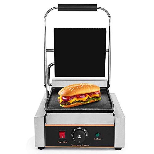 Professionele 1800 W elektrische grillplaat Single braadplaat kookplaat contactgrill Grill broodrooster 0 tot 300 °C.