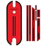 SHIOCHIC -Red Hot SHIOCHIC- Tabla de Madera - Accesorio para Patinete Eléctrico, Compatible con Xiaomi Pro y Pro 2 - Personaliza tu Patinete