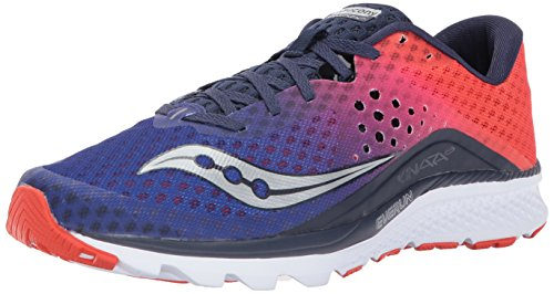 Saucony Men's Kinvara 8 Running Shoe, Navy Orange, 6.5 UK/7.5 M US