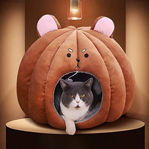 Katzenhöhlenbett, Weich Waschbare Katzenbetten Katzenschlafsack Selbstwärmendes Katzenhaus Haustierbett Für Kätzchenwelpen Kleine Hundetiere, Waschbare Höhle Hund/M