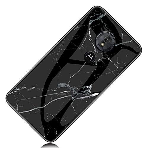 Yoota Funda Motorola Moto G5S, Trasera de Cristal Templado Anti-rasguños [Textura mármol]...