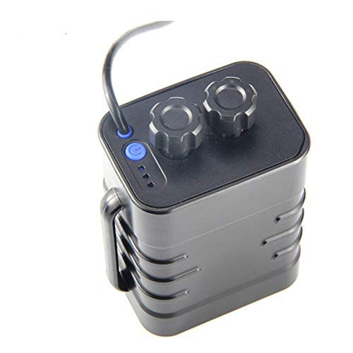 Ganata Waterproof DIY 6X 18650 Battery Case Box Cover with 12V and USB Power Supply for Bike LED Light Cell Phone Router