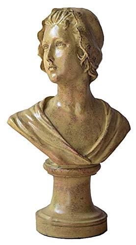 WQQLQX Statue Athena Büste Skulptur, griechische Büste Göttin Kunststatue, Retro Fensterdekoration, Inneneinrichtung Zubehör, Handwerk Dekoration, Figuren Skulpturen