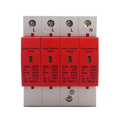 4P Dispositivo De Arrester, Sistema Eléctrico De Protección Contra Sobretensiones Domésticas Interruptor Protector De Bajo Voltaje Para Protección Contra Truenos y Sobrevoltaje Instantáneo