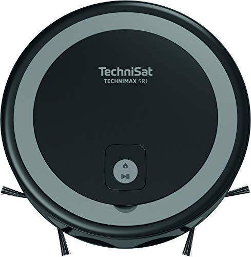 TechniSat TECHNIMAX SR1 – Saugroboter mit Lasernavigation (36W/1850Pa Saugleistung, smarte Navigation, App & Alexa Steuerung, HEPA 13 Filter, drei Etagen, geeignet für Hartböden, Teppiche, Tierhaare)
