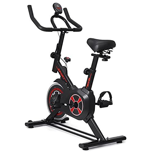 AMAZOM Bicicleta Estática, Bicicleta De Fitness con Soporte, Monitor LCD Y Cómodo Cojín De Asiento, Bicicletas De Ciclismo De Interior, Entrenamiento De Gimnasio En Casa
