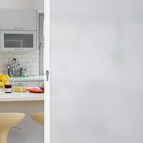 N / A Frosted window film privacy window film, with a new grid design, self-adhesive static glass window sticker for home office, home decoration film A85 50x200cm