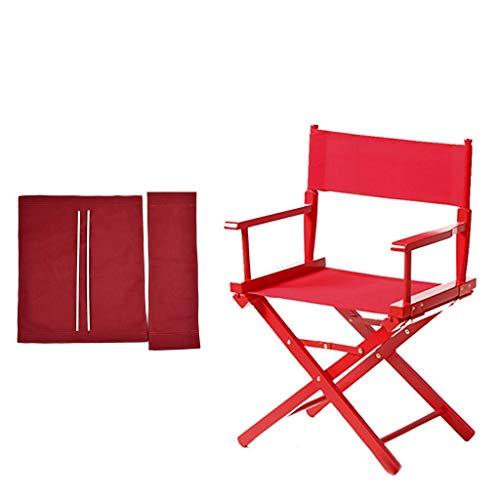 YTYZD Nuevos Directores Sillas Sillas de Repuesto Espesar Cubierta de Tela de Lona for sillas de reemplazo Lona Casual 1 Set y 2Flat Stick (Rojo)