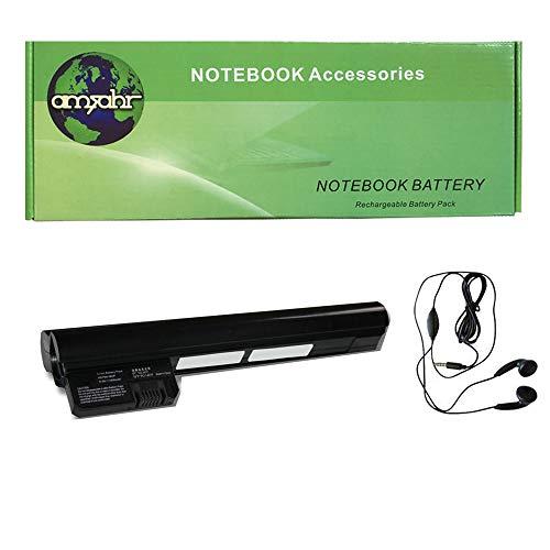 Amsahr - Batería de Repuesto para portátil HP Mini 582213-121, 596239-001, HSTNN-DB0P, 210-1018CL (Incluye Auriculares estéreo)
