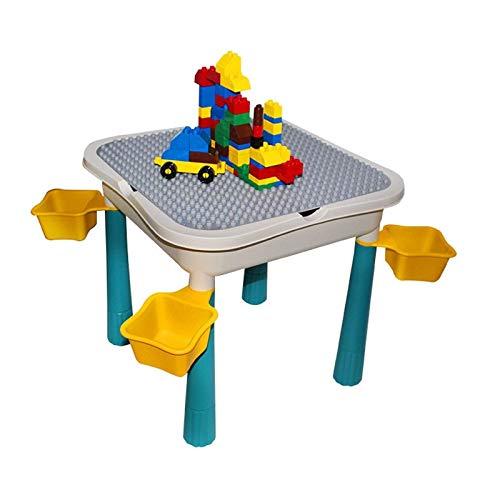 N/Z Living Equipment Mesa de Actividades para niños más Grande Juego de Mesa de Juego Compatible con Classic Blocks Mesa de Agua y Arena
