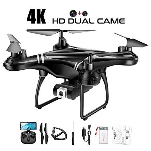 FPV RC Drone avec 4K Caméra HD WiFi Double Selfie Quadcopter Headless Héliport Une Touche De Retour Drones Toy Cadeau,1 Battery