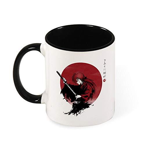 Rurouni Kenshin with Katana Taza de café taza de té, regalo para mujeres, niñas, esposa, mamá, abuela, 325 ml