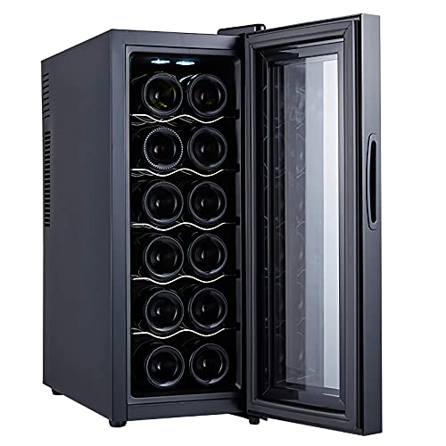 FDSZ Mini refrigerador de Vino, refrigerador de Vino termoeléctrico, refrigerador, CNC, Puerta de Vidrio, pequeña Mesa de Trabajo, Temperatura Constante y Humedad refrigerador de Vino