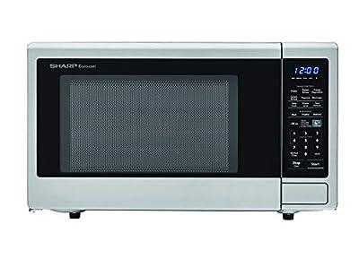 SHARP ZSMC1842CS Stainless Steel Carousel 1.8 Cu. Ft. 1100W Countertop Microwave Oven (ISTA 6 Packaging) Cubic Foot1100 Watts (Renewed)