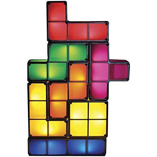 Tetris Lamp Stapelbaar Led Lampen, Sfeerverlichting Retro Tetris Blokken DIY Creatieve Lamp 'S Nachts Licht Kerstverlichting