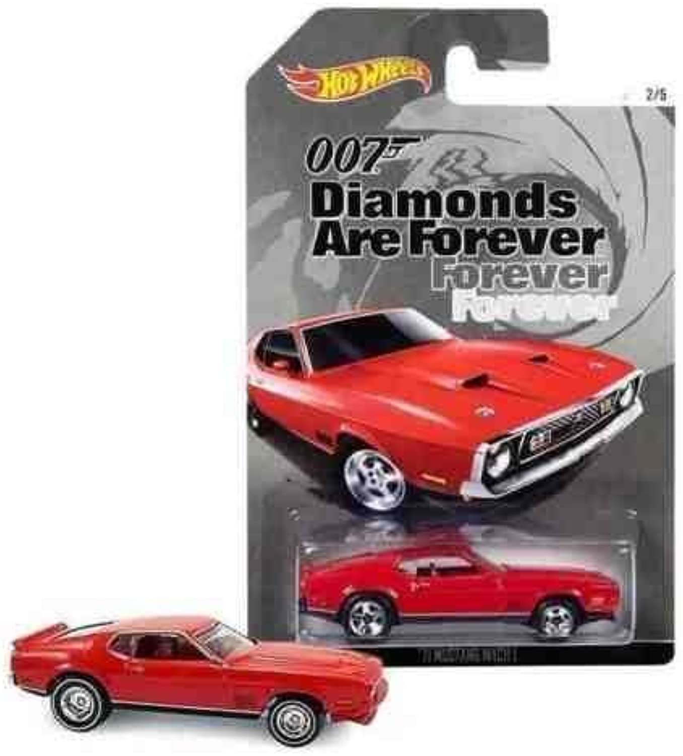 Hot Wheels 007 James Bond Diamonds Are Forever 1971 Mustang Mach 1 Diecast Car by Hot Wheels