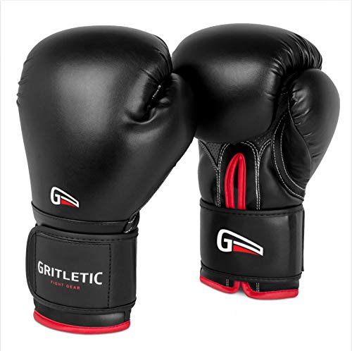 Four Piece Boxing Training Glove Kit Pair of Bag Gloves and Punch Mitts Black