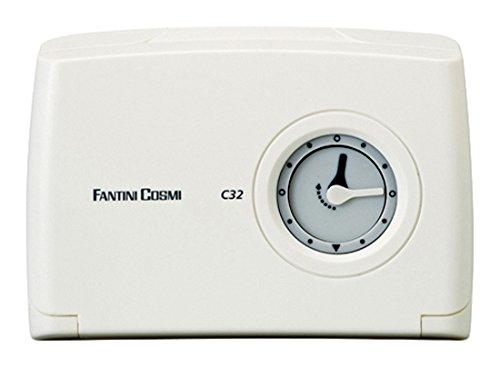 Fantini Cosmi C32 Chronothermostaat voor dag met klok, mechanisch, werkt op batterijen, wit