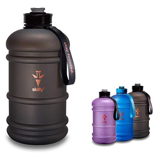skilly YPO Bottle Sport Trinkflasche | XXL 2.2l Water Bottle | Fitnessflasche BPA frei | Gym Water JUG | Geruchsfreie Wasserflasche