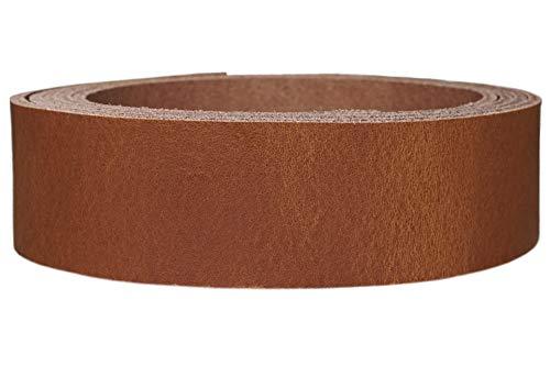 Lederriemen Rindsleder 'Pull Up', in vielen Farben, Gürtelleder, Lederstreifen, Farbe:Pull Up cognac, Breite:2cm breit