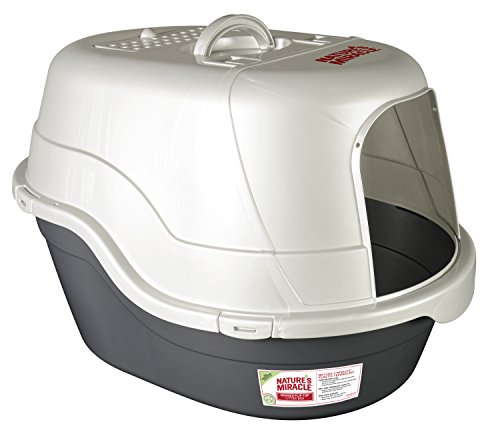 Nature's Miracle Oval Hooded Flip Top Litter Box,...