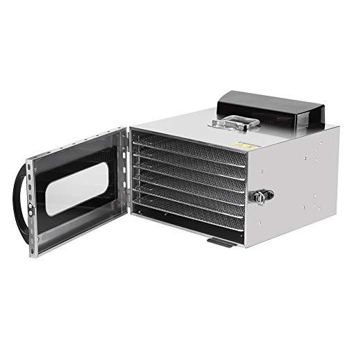 Deshidratador Con Controlador de Temperatura, Deshidratador Con 6 Compartimentos, Frutas, Verduras, Carne, Secador de Frutas, Deshidratador Automático 35-90 ℃(EU Plug)