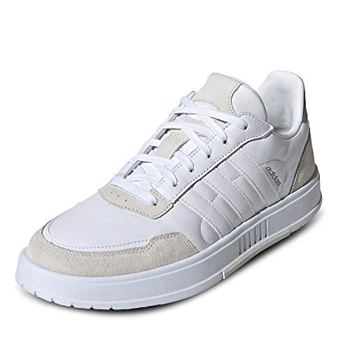 adidas COURTMASTER, Scarpe da Tennis Uomo, Ftwr White/Ftwr White/Orbit Grey, 42 EU