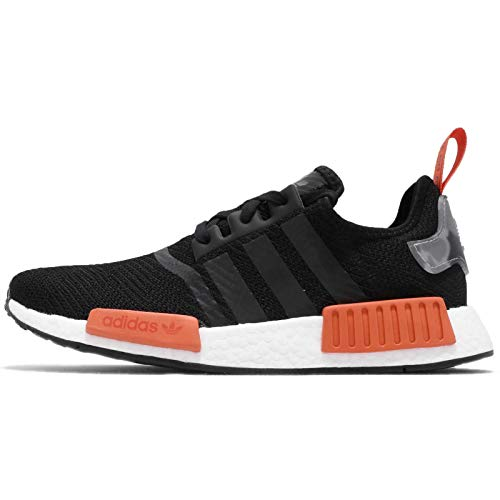Mens Adidas NMD_R1 Trainer in Black Red.