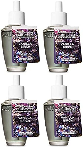 Bath And Body Works 4 Pack Vanilla Birch Wallflowers Fragrances Refill 0 8 Oz