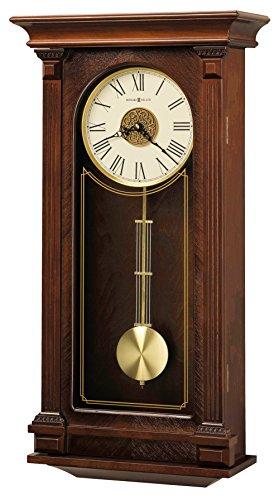Howard Miller Sinclair Wall Clock 625-524 – Cherry Wood Bordeaux with Quartz, Triple-Chime Movement