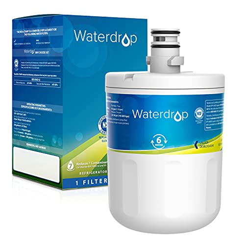 Waterdrop 5231JA2002A Refrigerator Water Filter, Replacement for LG LT500P, GEN11042FR-08, ADQ72910911, ADQ72910901, Kenmore 9890, 46-9890, LFX25974ST, LMX25964ST, LSC27925ST, Packing May Vary