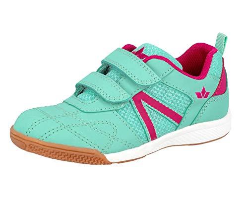 Lico Mädchen First V Multisport Indoor Schuhe, Türkis (Türkis/Pink), 35 EU