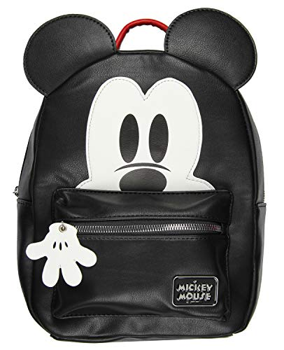 Disney Mickey Mouse 3D Character Ears Faux Leather Mini Backpack Purse
